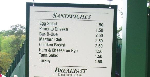masters menu