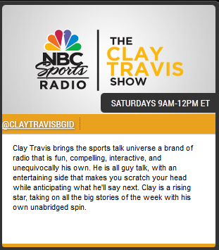 nbc sports radio clay travis